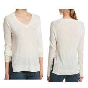 FATE by LFD  V Neck Side Slits Tunic Sweater